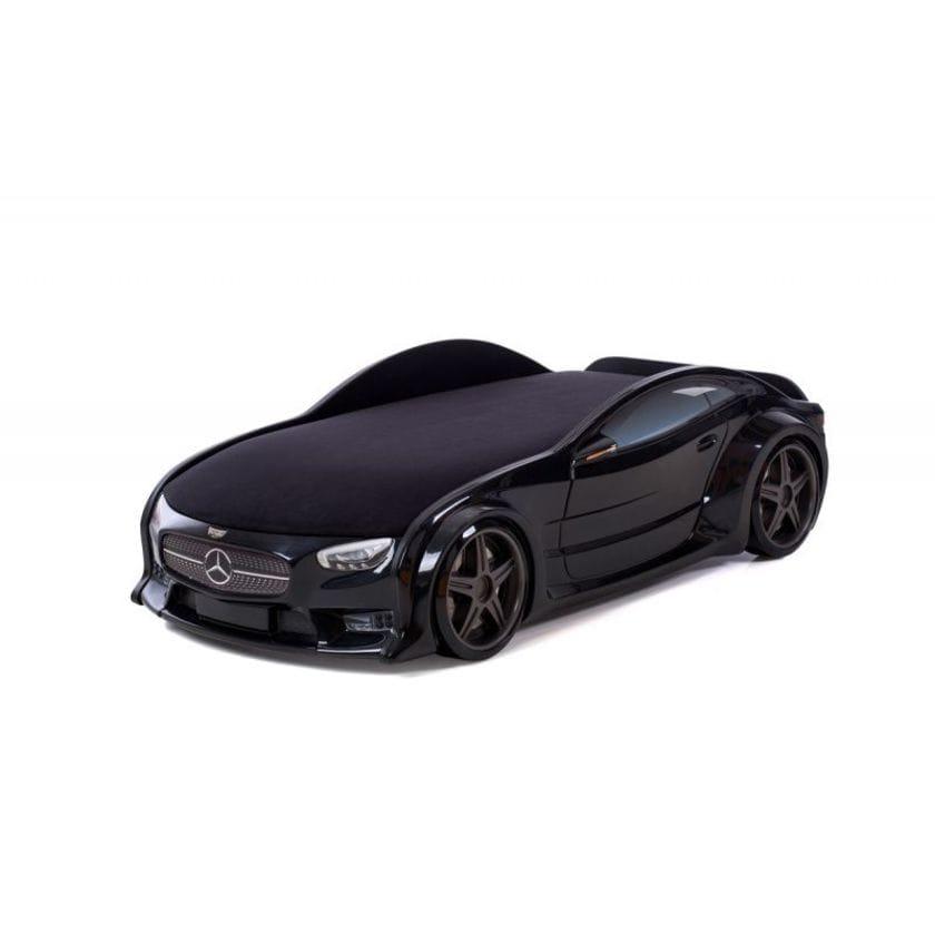 Кровать-машина объемная (3d) NEO Мерседес черный
