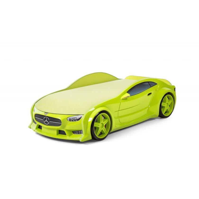 Кровать-машина объемная (3d) NEO Мерседес зеленый