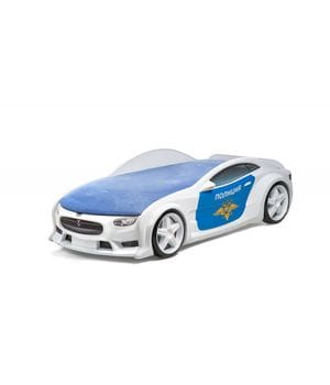 Кровать-машина объемная (3d) NEO Тесла Полиция