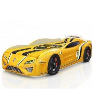 Кровать-машина Romack SportLine жёлтая