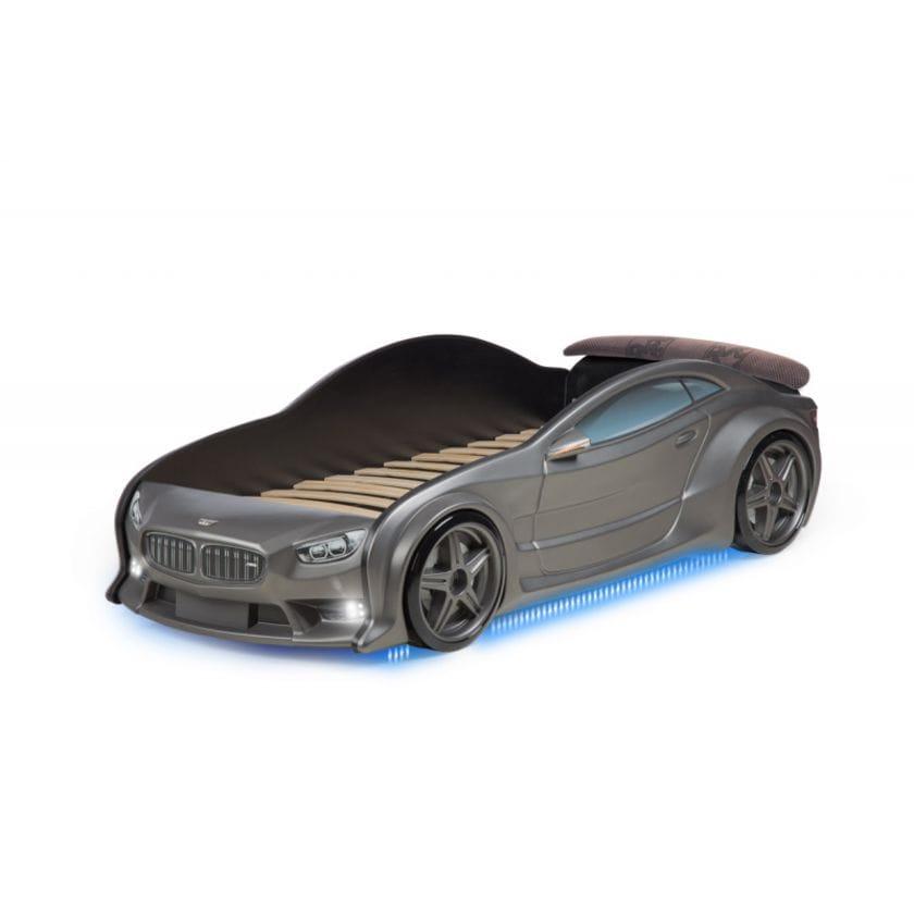 Кровать-машинка объемная (3d) EVO БМВ графит