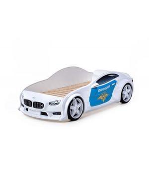 Кровать-машинка объемная (3d) EVO БМВ Полиция