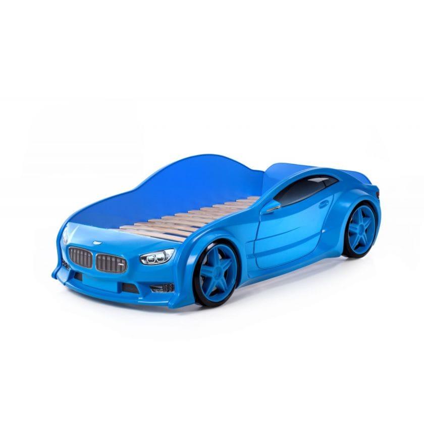 Кровать-машинка объемная (3d) EVO БМВ синий
