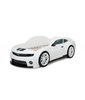 Кровать-машинка объемная (3d) EVO Camaro белый