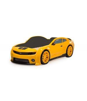 Кровать-машинка объемная (3d) EVO Camaro желтый
