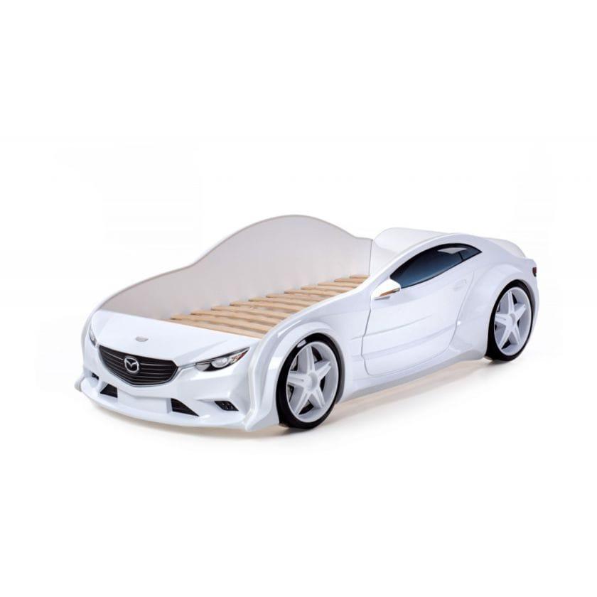 Кровать-машинка объемная (3d) EVO Мазда белый