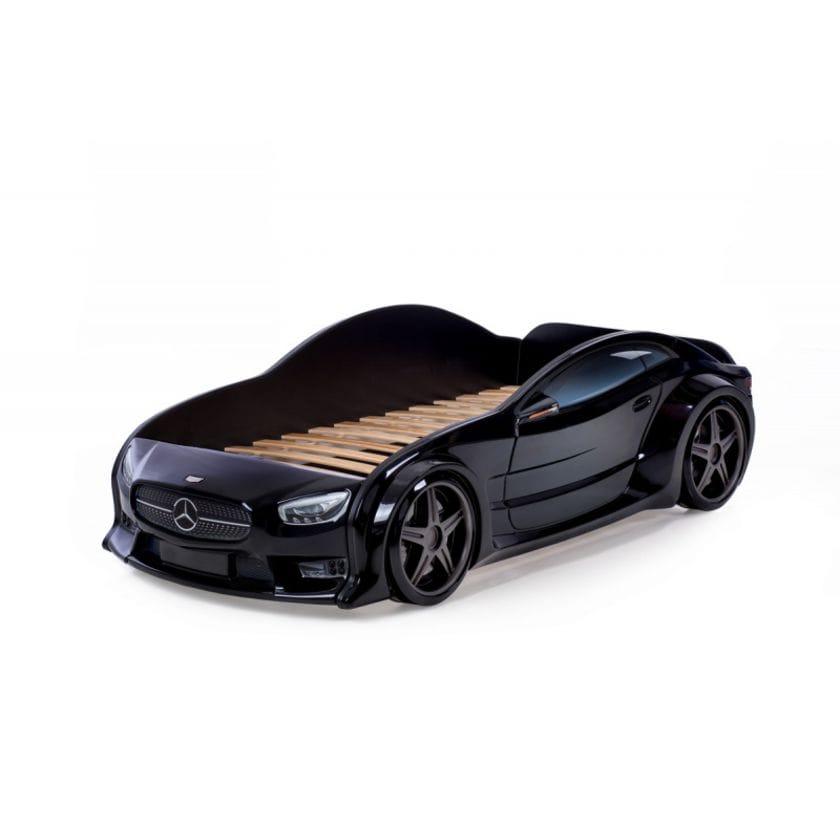 Кровать-машинка объемная (3d) EVO Мерседес черный