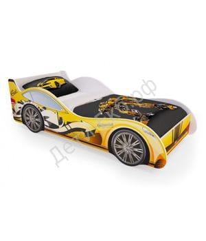 Кровать машинка  «Желтая»