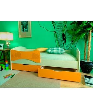 Детская кровать Слоники