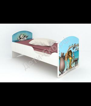 """Кроватка """"Мадагаскар"""" без ящиков"""