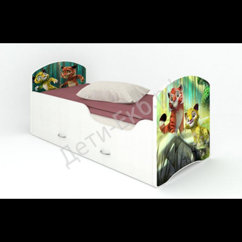 """Кроватка с ящиками """"Лео и Тиг"""""""