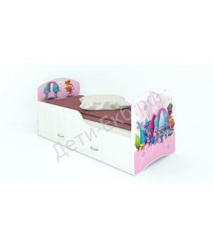 """Кроватка с ящиками """"Тролли"""""""