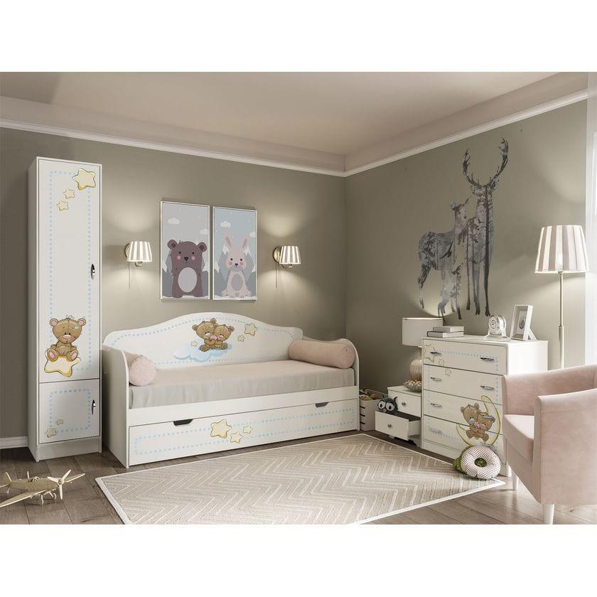 Детская кровать Мишки Тедди