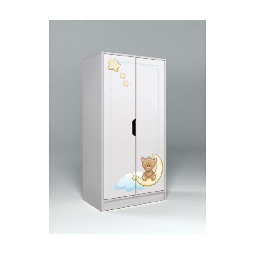 Низкий 2-створчатый шкаф Мишки тедди