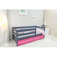 Кровать манеж Сонечка графит-розовый