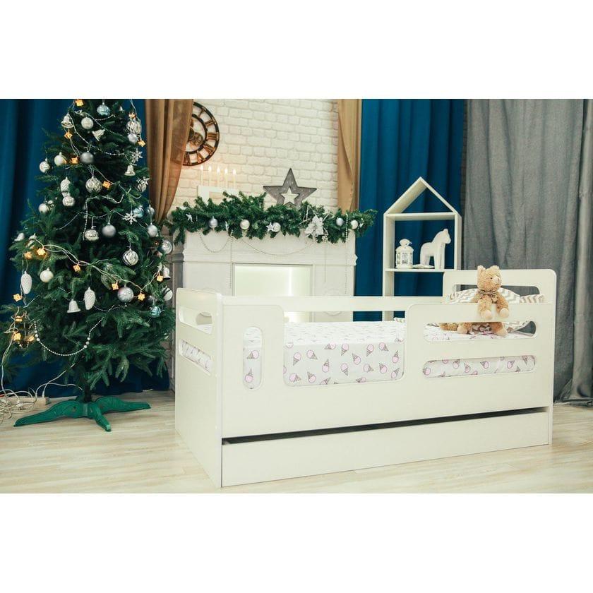 Кровать-манеж горизонтали с ящиком