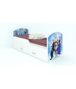 Кроватка с ящиками Холодное сердце