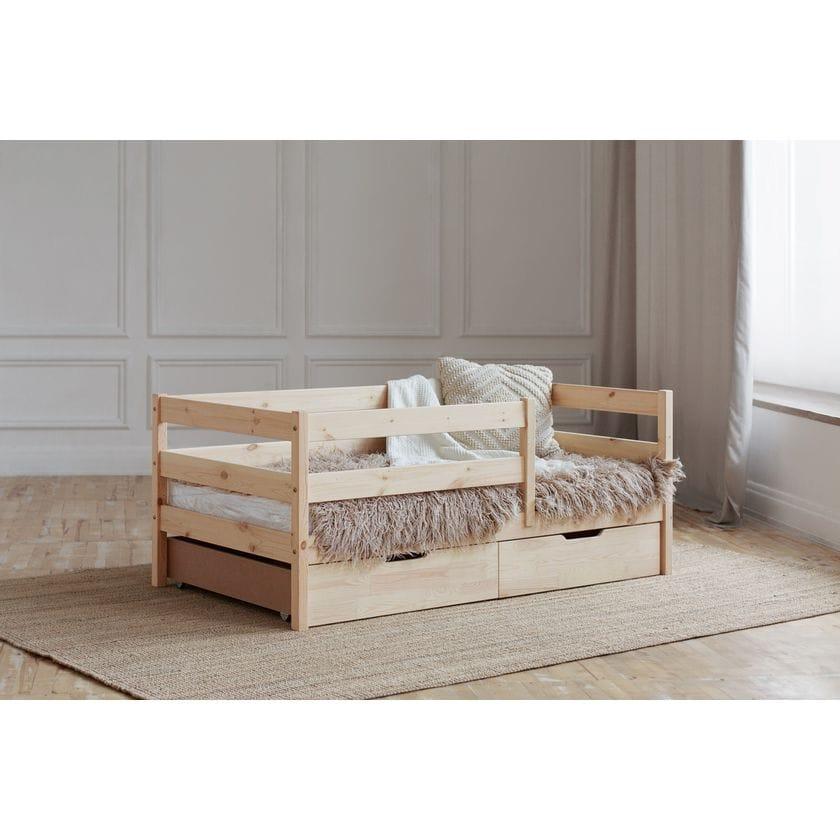 Кровать софа с горизонтальным бортиком (без покраски)