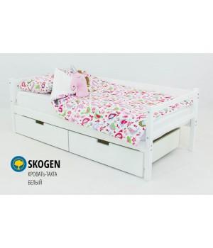 Детская деревянная кровать-тахта «Skoden белый»