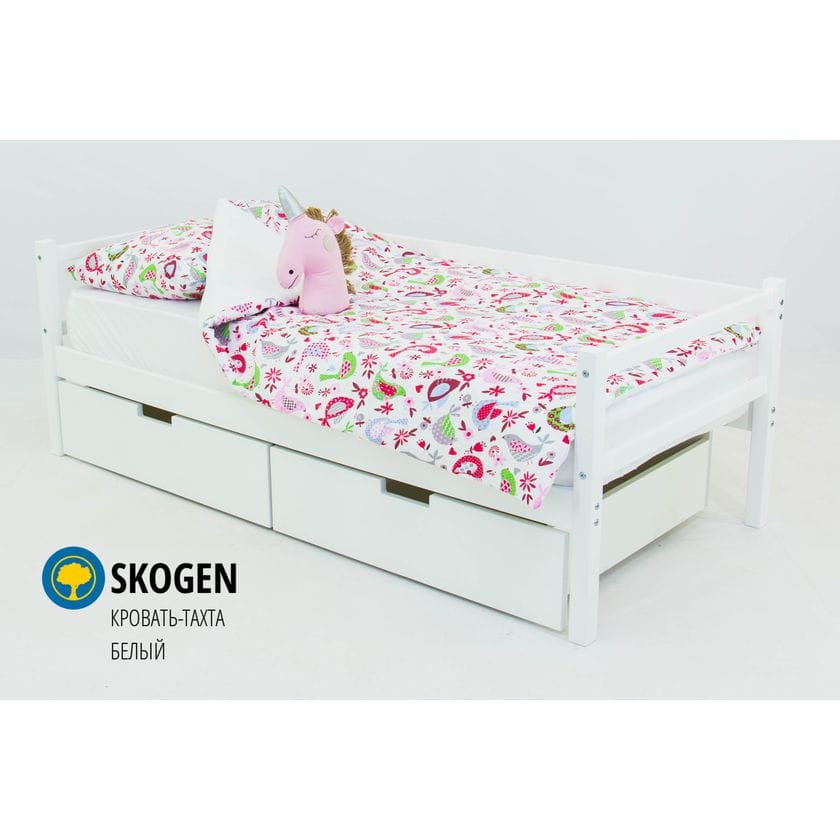 Детская деревянная кровать-тахта Svogen белый