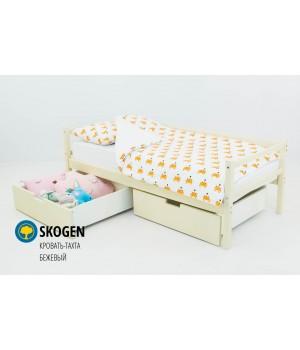 Детская деревянная кровать-тахта «Skoden бежевый»