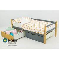 Детская деревянная кровать-тахта Svogen дерево-графит