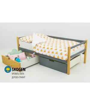 Детская деревянная кровать-тахта «Skoden дерево-графит»