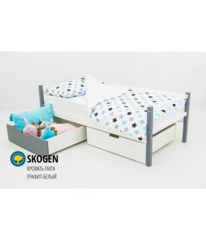 Детская деревянная кровать-тахта «Skoden графит-белый»