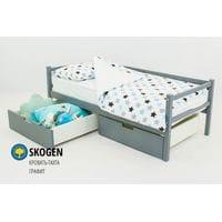 Детская деревянная кровать-тахта Svogen графит
