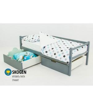 Детская деревянная кровать-тахта «Skoden графит»
