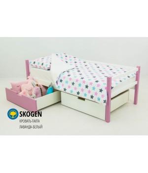 Детская деревянная кровать-тахта «Skoden лаванда-белый»