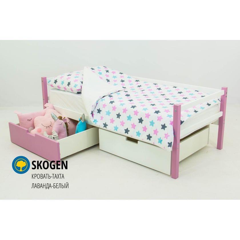 Детская деревянная кровать-тахта Svogen лаванда-белый
