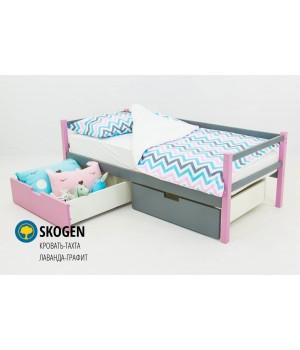 Детская деревянная кровать-тахта «Skoden лаванда-графит»