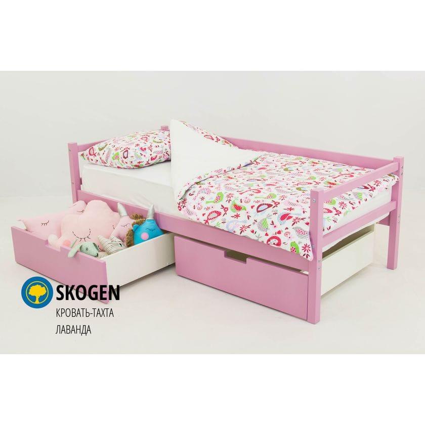 Детская деревянная кровать-тахта Svogen лаванда