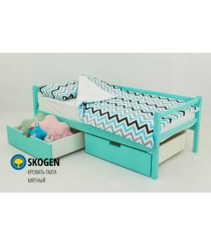 Детская деревянная кровать-тахта «Skoden мятный»