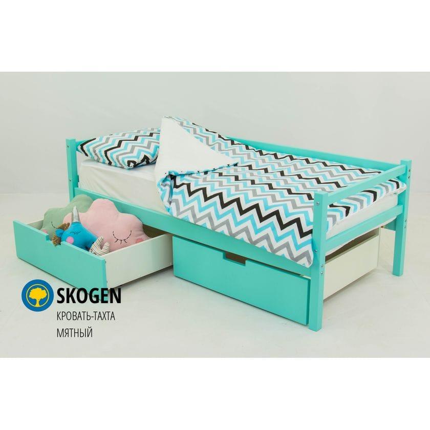 Детская деревянная кровать-тахта Svogen мятный
