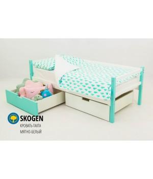 Детская деревянная кровать-тахта «Skoden мятно-белый»