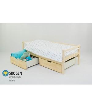 Детская деревянная кровать-тахта «Skoden натура»