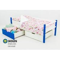 Детская деревянная кровать-тахта Svogen сине-белый