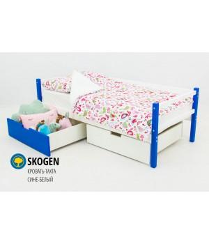 Детская деревянная кровать-тахта «Skoden сине-белый»