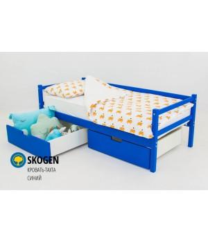Детская деревянная кровать-тахта «Skoden синий»
