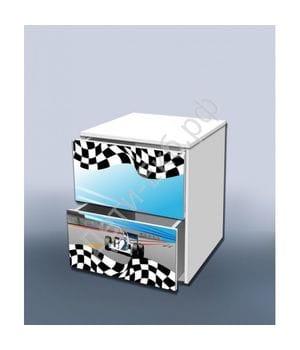 Тумба с ящиками Гонка голубая