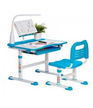Комплект парта с подставкой для книг + стул + лампа Rifforma Set-17