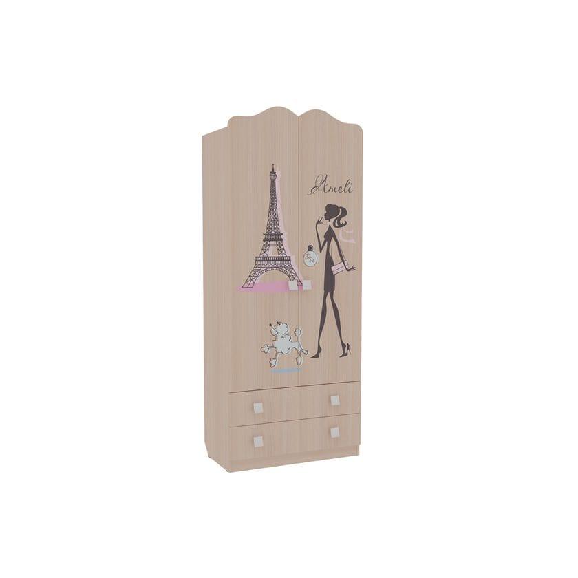 Шкаф комбинированный 2-створчатый с ящиками Амели