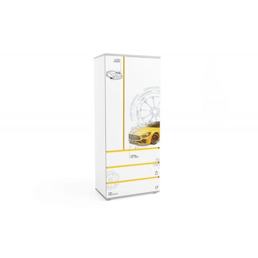 Шкаф Q-bix 33 Желтый Мерседес