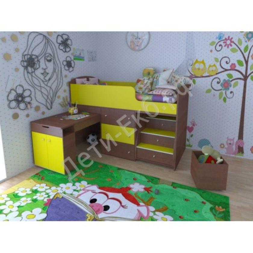 Кровать чердак Малыш Разные Расцветки!!!