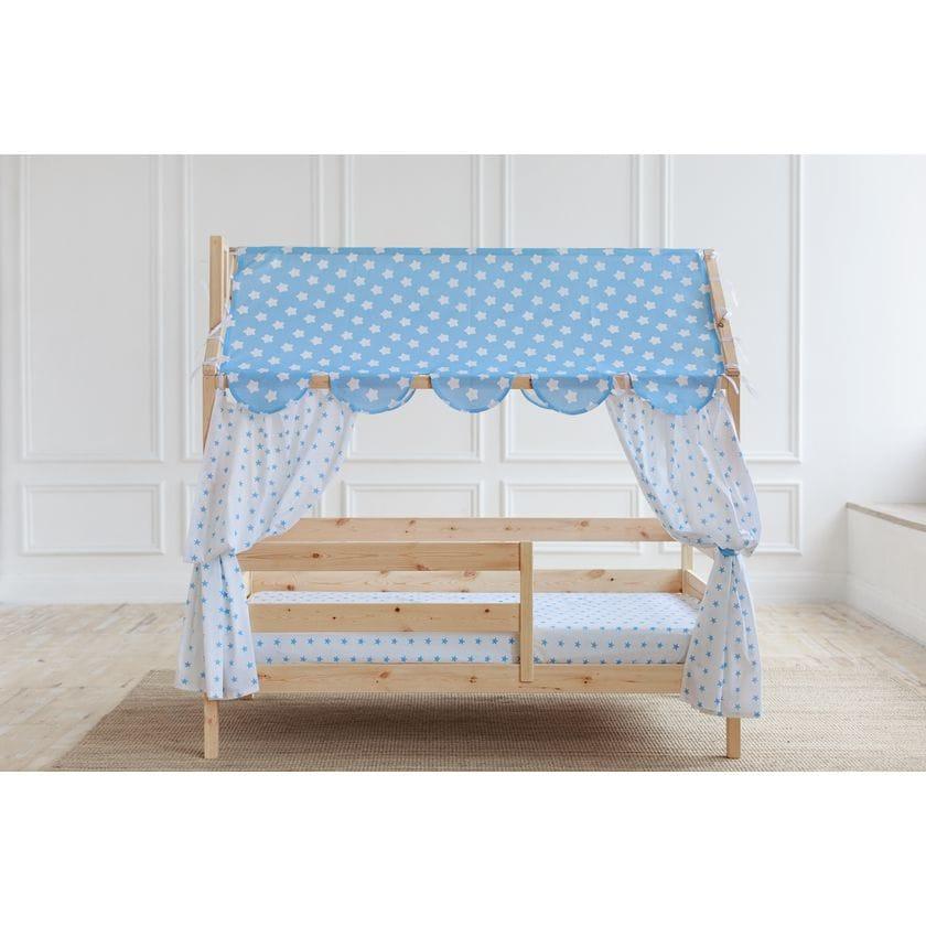 Кровать домик из натурального массива (без покраски)