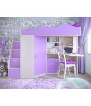 Кровать-чердак Пионер 1 разные расцветки
