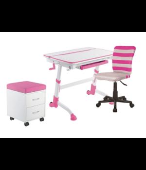 Комплект парта Volare pink + кресло LST9 PINK + тумбочка SS15W pink