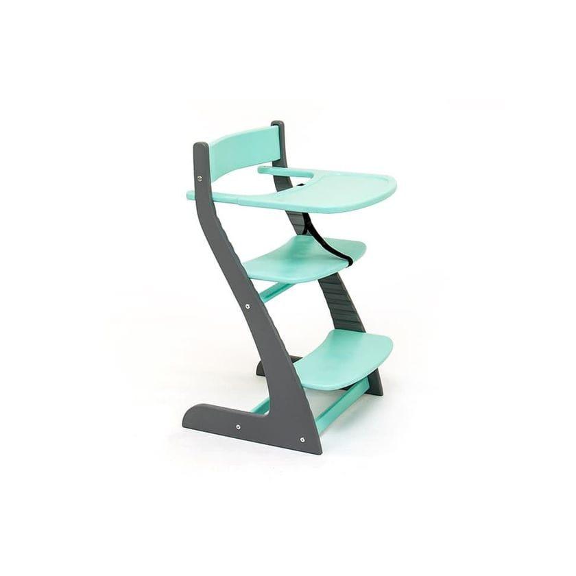 Детский регулируемый стул Урса графит-мятный